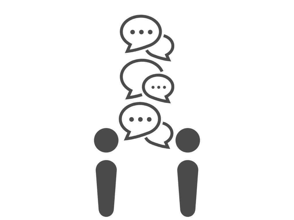 会話の潰し合い